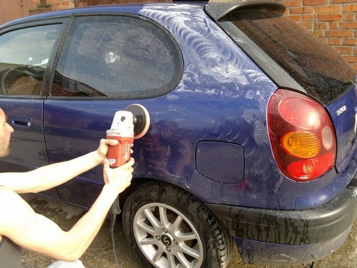 Полировка мелких царапин автомобиля своими руками
