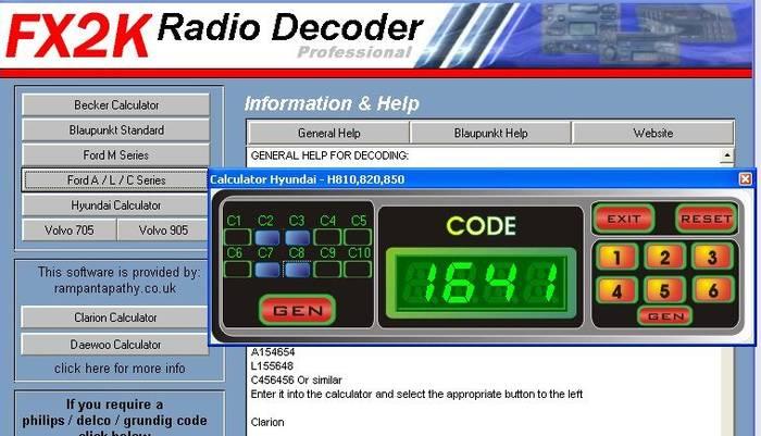 генератор кодов для автомагнитол opel