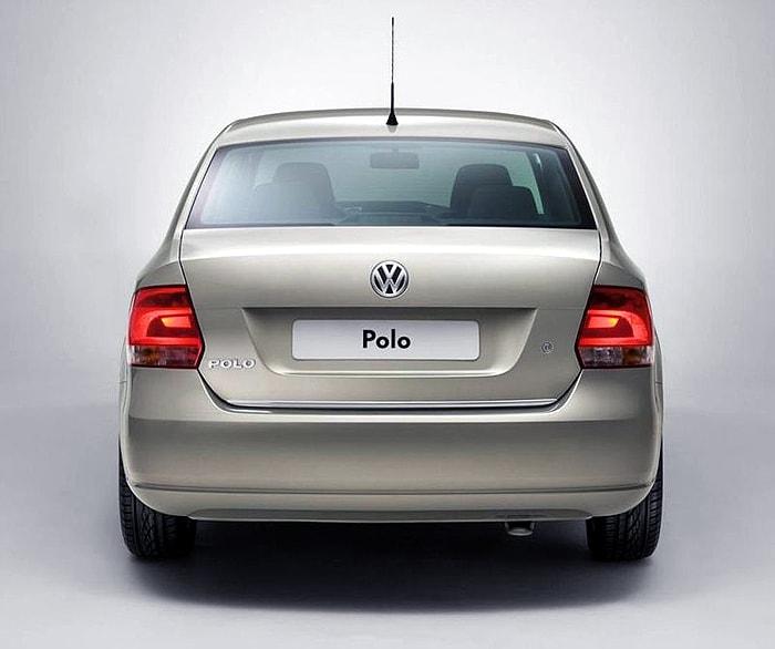 Вид сзади Volkswagen Polo