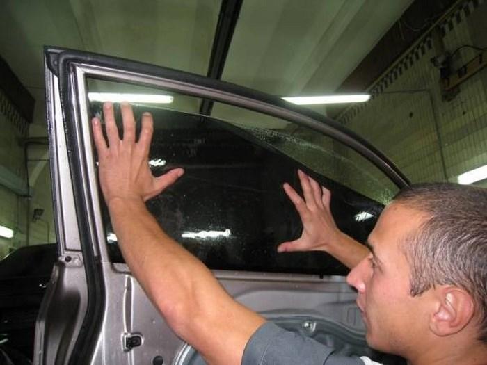 Как затонировать стекла своими руками фото
